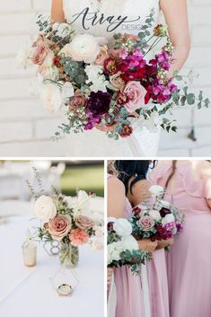 Purple Wedding Ideas Floral Color Palettes - the perfect purple flowers and purple color palettes for the Arizona bride and groom. The colorful wedding color palettes are seen in bridal bouquet, bridesmaid bouquets, centerpieces and ceremony wedding flowers. Spring, winter, and fall wedding floral arrangements with purple flowers and purple floral accents for a Phoenix wedding ceremony and reception. Photos by Susannah Lynn. Purple Wedding Decorations, Purple Wedding Flowers, Floral Wedding, Fall Wedding, Wedding Colors, Wedding Ceremony, Reception, Wedding Ideas, Purple Flower Arrangements