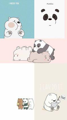 Cute Panda Wallpaper, Cute Tumblr Wallpaper, Cartoon Wallpaper Iphone, Disney Phone Wallpaper, Cute Patterns Wallpaper, Bear Wallpaper, Kawaii Wallpaper, We Bare Bears Wallpapers, Panda Wallpapers