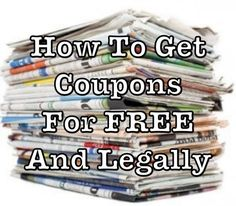 How To Get Coupons For Free Extreme Couponing, How To Start Couponing, Couponing For Beginners, Couponing 101, Ways To Save Money, Money Tips, Money Saving Tips, Money Savers, Saving Ideas