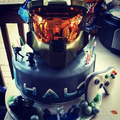 Halo cake I made for a sweet 16!!