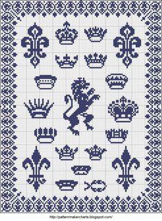 Free princess crown Cross Stitch Patterns | crowns cross-stitch - free