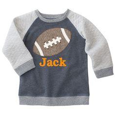 Quilted Football Applique Sweatshirt