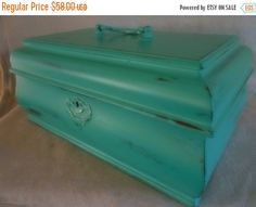 30% OFF SALE Patina Green Shabby Chic Milk Painted by CheekyBirdy