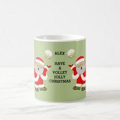 volleyball Christmas Coffee Mug - Xmas ChristmasEve Christmas Eve Christmas merry xmas family kids gifts holidays Santa
