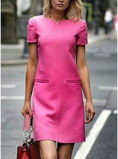 Office Wardrobe, Shift Dresses, African Dress, Couture Dresses, Elegant Dresses, Fashion Ideas, Leo, Short Sleeves, My Style