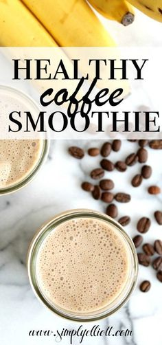 Healthy Smoothies This healthy coffee smoothie is my go to option during the warmer months. It's packed with protein and caffeine, plus is tastes incredible! - A simple and healthy coffee smoothie option! Smoothie Proteine, Coffee Smoothie Recipes, Fruit Smoothies, Coffee Recipes, Healthy Smoothies, Healthy Drinks, Healthy Coffee Smoothie, Healthy Breakfasts, Coffee Breakfast Smoothie