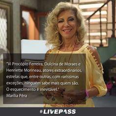 O dia se foi... A vida segue seu rumo. E que o tempo não traga o esquecimento. R.I.P. #mariliapera #livepass
