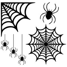 Add some spook to your windows with these reusable creepy spider web window clings! Just cut with a Cricut or other cutting machine using black window cling. Moldes Halloween, Halloween Doodle, Halloween Painting, Halloween Porch, Halloween Spider, Halloween Projects, Halloween Cards, Spider Costume, Costume Halloween