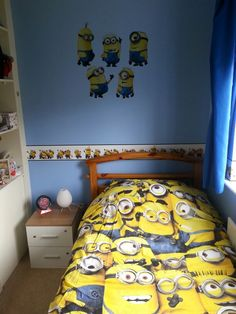 49 Best minions themed bedroom ideas images in 2019 | Minion bedroom ...