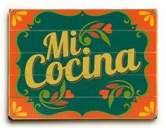 "Mi Cocina by Artist Michael Dexter 9""x12"" Solid Wood Sign Wall Decor Art - Love this!!!  ArteHouse,http://www.amazon.com/dp/B00DZBSL8E/ref=cm_sw_r_pi_dp_vdwetb031GTW54FB"