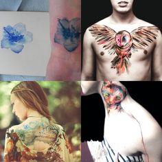 Water Color Painting Tattoos
