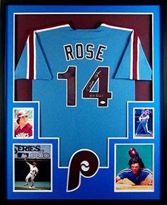 aa06a0110c4 Pete Rose Framed Jersey Signed JSA COA Autographed Philadelphia Phillies  Mister Mancave http