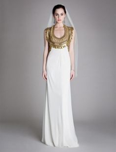 Goddess dress (gold and white gown)-- this is just FIERCE!