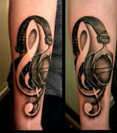 Music tattoo on arm