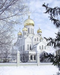 Trinity-Vladimir Cathedral, Novosibirsk, Russia.