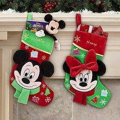 Personalizable Minnie Mouse Holiday Stocking. Perfect for Baby's 1st Christmas!