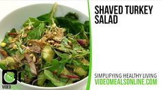 Shaved Turkey Salad