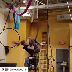 We love these tricks by @bendyabby15 ! ❤️ #aerialhooptricks