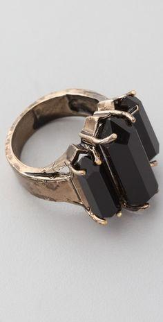 Erin Wasson Triple Crystal Ring