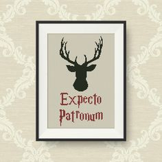 Expecto Patronum cross stitch pattern, Harry Potter Spells cross stitch pattern, PDF counted cross stitch pattern, P180 by NataliNeedlework on Etsy