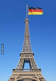 Eiffel Tower Today ‪#‎worldcup‬ ‪#‎germany‬ ‪#‎france‬