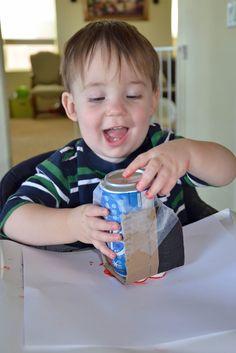Capri + 3: Make a Soda Can Sticker Stamp