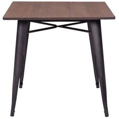 Zuo Titus Dining Table (€305) ❤ liked on Polyvore featuring home, furniture, tables, dining tables, chocolate, brown coffee table, espresso color furniture, dark brown furniture, compact dining table and dark coffee table