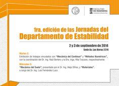 1ra edición de las Jornadas del Departamento de Estabilidad #FIUBA 2 y 3 de septiembre de 2014 http://quevasaestudiar.com/estudiar-en-Universidad-de-Buenos-Aires-32