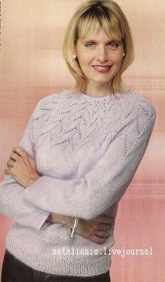 Мобильный LiveInternet Пуловер с круглой кокеткой спицами | Gania - Дневник Gania |