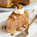 Easy No Bake Snickers Cheesecake - The Busy Baker