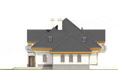 Elewacja lewa projektu Dzierlatka III styl z garażem 2-st. [A]
