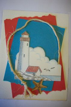 Card by Cheryl A Boone.  One rubber stamp, colored, collage.