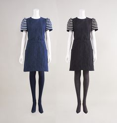 BORDERS at BALCONY #DENIM DRESS B14AW2-3-27 #2014AW #bordersatbalcony #border #dress