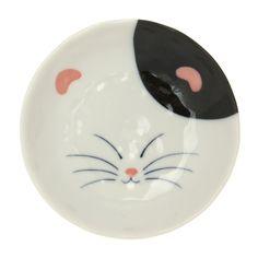 "Cat Plate 4.8"" Set Of 4 by Kotobuki Trading Co."