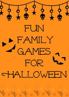 Great inexpensive fun family games for Halloween. Perfect games for a Halloween Party or just a get together. These can also be used at a Fun Fest Day.