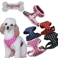 Hot Stars Breathable Printed Mesh Dog Harnesses Soft Nylon Pet Harness Cloth Dog Puppy Vest For Small Dogs Chihuahua #Affiliate