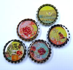 This is what I am doing at the moment, Bottle cap resin crafts