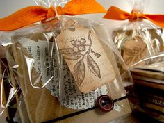 Vintage Leaves Tags