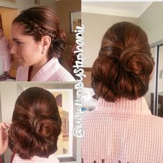 up do for wedding braid with pinned back