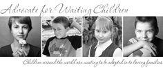 A blog about waiting children