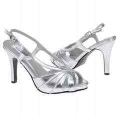 New!! Aliyah Silver Metallic Women/'s Platform Dress Shoes by DYEABLES