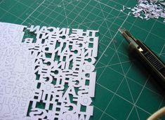 Cut out type - wish I had the patience to do this... Maybe I should try?!
