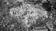 The Kowloon Walled City in Hong Kong was once the densest place on earth, a virtually lawless labyrinth of crime, grime, commerce and hope. A Wall Street Journal documentary tracks its colorful legacy 20 years after its demolition. Kowloon Walled City, Hong Kong, Cities, City Architecture, Urban Planning, Paris Skyline, City Photo, Around The Worlds, Earth