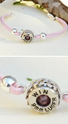 Leather Casing Bullet Bracelet ♥ This would be a great addition to any outfit. Great gift idea - for me! Ammo Jewelry, Cute Jewelry, Jewelry Art, Jewelery, Fashion Jewelry, Jewelry Ideas, Bullet Shell Jewelry, Bullet Casing Jewelry, Bullet Earrings