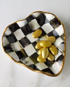 """Courtly Check"" Heart Plate by MacKenzie-Childs at Neiman Marcus."