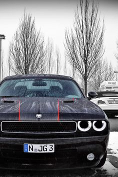 Dodge Challenger. Great angle to take this photo!