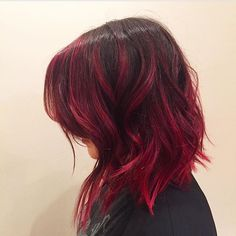 RED By Mitchell Hair Haircolor Redhair Magenta Balayage Ombre