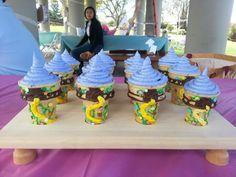 Rapunzel cupcake cones