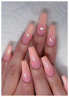 Cutest Pink Ombre Nail Designs & Photos for Girls in 2019 - Nails Art - Nageldesign Ombre Nail Designs, Acrylic Nail Designs, Nail Art Designs, Nails Design, Pink Ombre Nails, Purple Nail, Glitter Nails, Coffin Ombre Nails, Pink Toe Nails