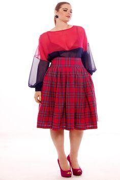 JIBRI gedruckte High Waist Pleated Skirt von jibrionline auf Etsy